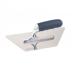 "Mini Trapezoid Trowel 11"" Polished Semi-Flexible Blade"