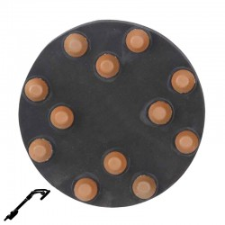 "9"" Diamond Button Disc, Velcro, For Terrazzo & Stone Polishing"