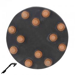 """9"""" Diamond Button Disc, Velcro, For Terrazzo & Stone Polishing"""