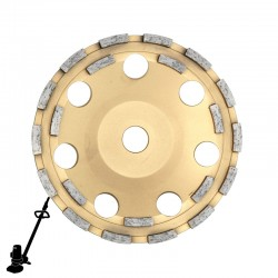 "EBS180F 7"" DX7-G21 Diamond Disc, For Coating & Adhesive Removal"