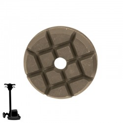 "PGP43 3"" Hybrid Puck Disc, Velcro, For Concrete & Terrazzo Polishing"