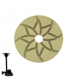 "4"" Diamond Puck Disc, Velcro, For Terrazzo & Stone Polishing"