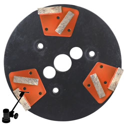 PD23 DG-H5 Diamond Mini Plate Kit, For Latex & Floor Coating Removal