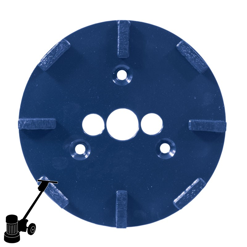 """PD23 9"""" Long Life Diamond Plate, For Concrete & Screed Grinding"""