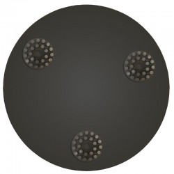 """17"""" Metal Dot Disc, For Concrete Grinding"""