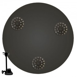 "17"" Metal Dot Disc, For Concrete Grinding"