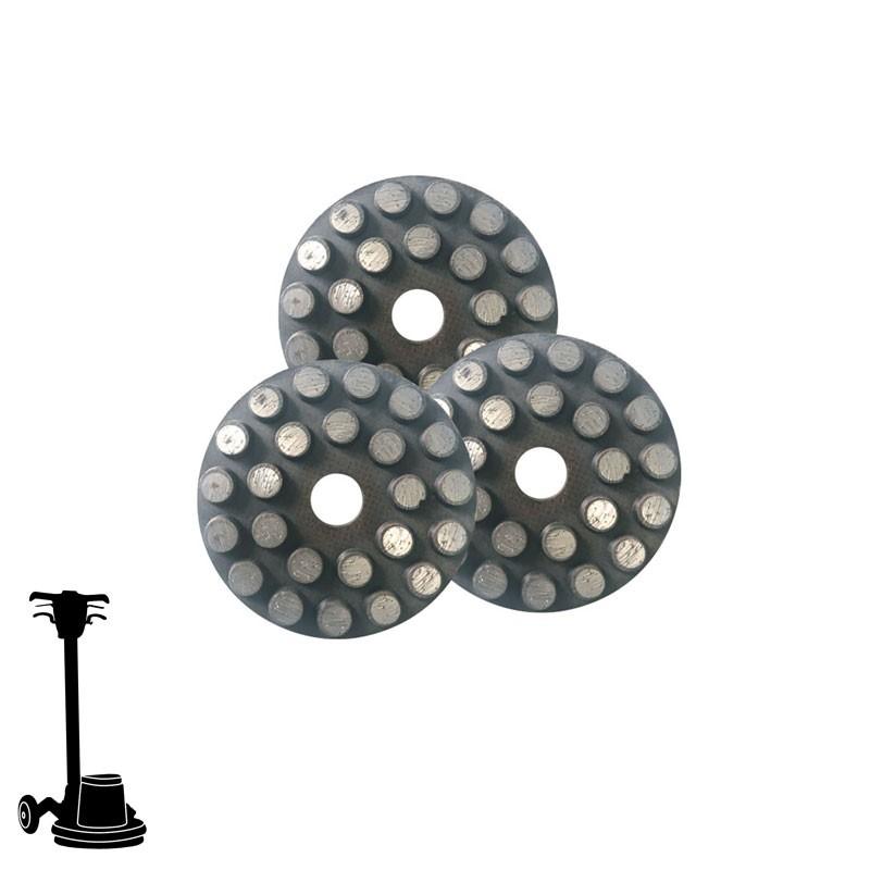 """PGP43 3"""" Diamond Kit, 3 Discs, Velcro, For Concrete & Terrazzo Grinding"""