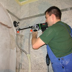 END1550P High Speed 1500w Diamond Drill in use