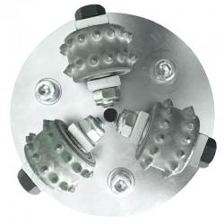 Tungsten Pointed Wheel Scabbler Head