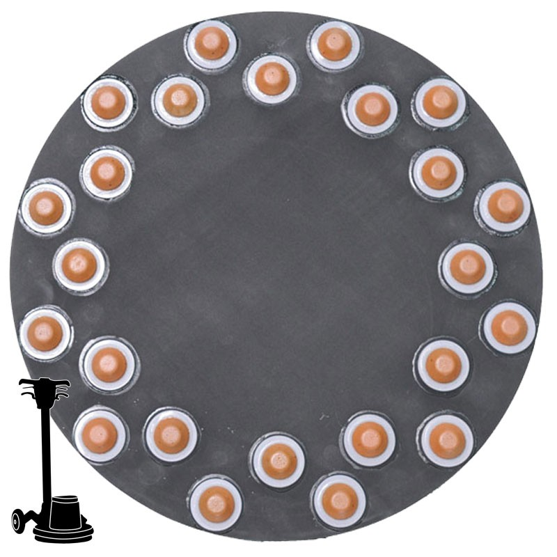 """17"""" Diamond Button Disc, For Terrazzo & Stone Polishing"""