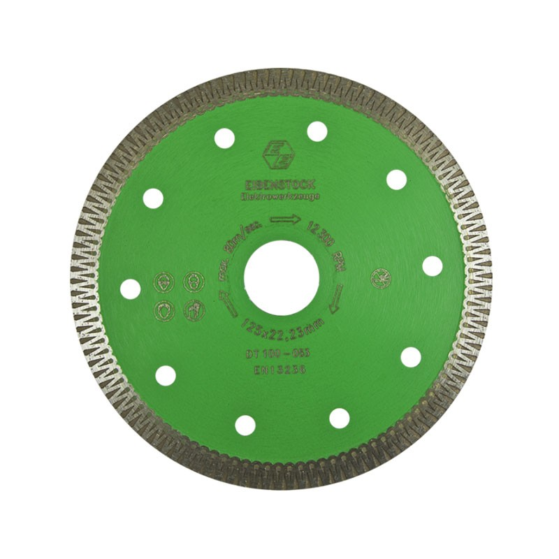 "Turbo Diamond Cutting Disc 5"", For Porcelain & Hard Tiles"