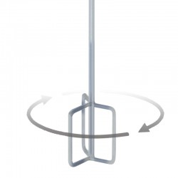 """MR1 Hoop Stainless Paddle 4"""" - 8"""""""