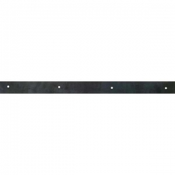 "24"" Black Rubber Squeegee Blade"