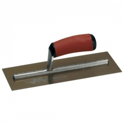 "18"" Gold Stainless Steel Plaster Trowel"