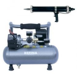 2 ltr Air Powered Mortar Gun & Compressor 110v