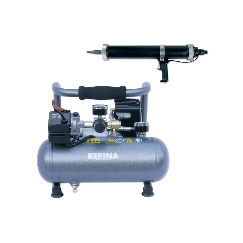 2 ltr Air Powered Mortar Gun & Compressor 110v