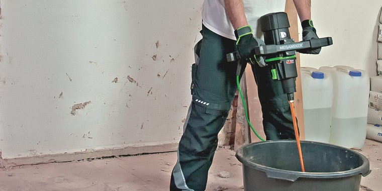REFINA range of mixing equipment for plaster, render and floor trades