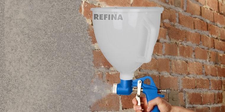 Spray euipment to spray & pump plasters, renders, mortars & coatings