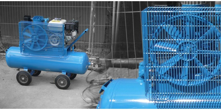 Electric and petrol compressors for continuous site use