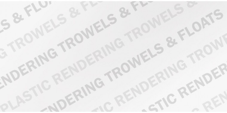 Plastic trowels, floats & darbys for use on render