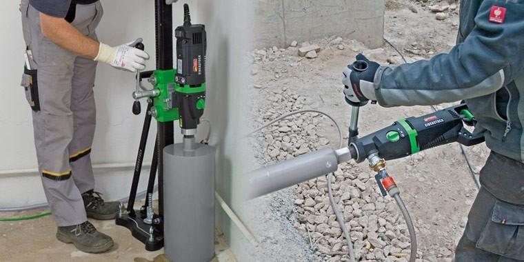 EIBENSTOCK diamond drills, drilling units and diamond cutters