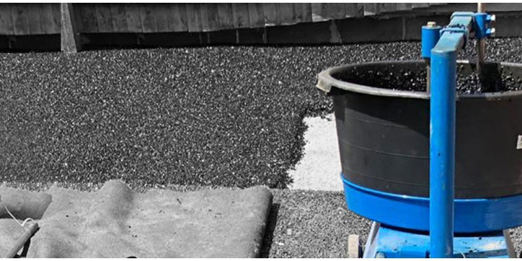 Rotamixers forced action tub mixers for mixing flooring materials