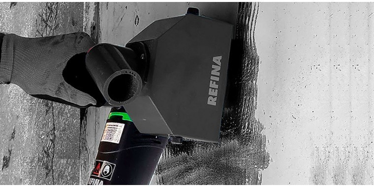 REFINA surface blasters &  scabblers for coating and rust removal