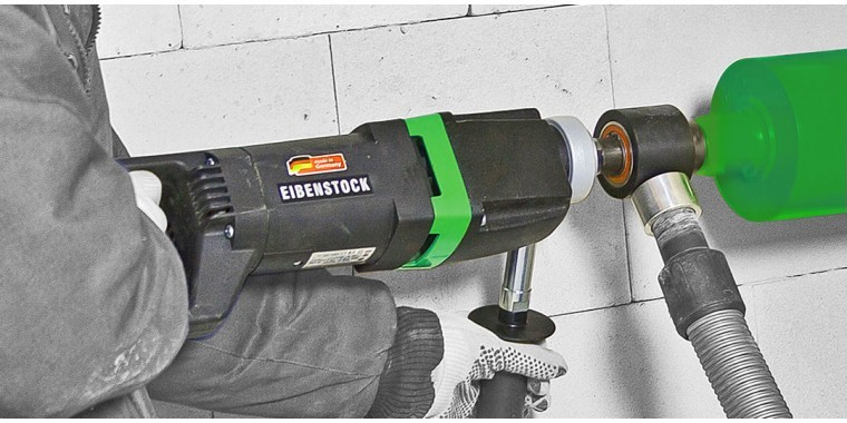 EIBENSTOCK hand held diamond drills for drilling large diameter holes