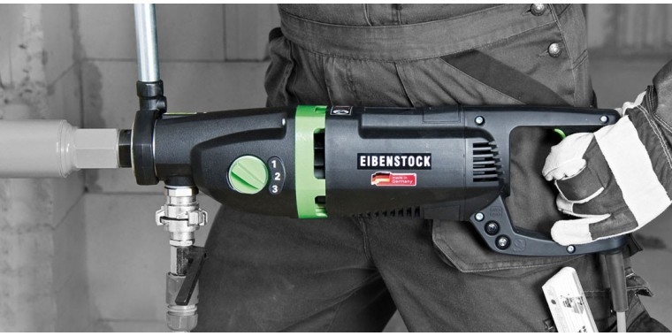 EIBENSTOCK wet/dry combi diamond drills for drilling stone & concrete