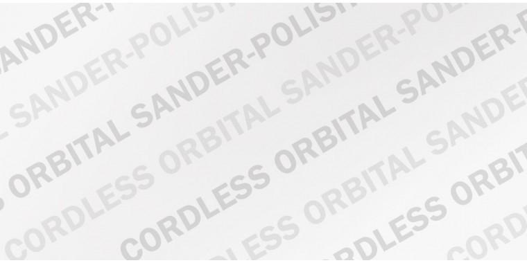 Cordless Orbital Sander Polishers