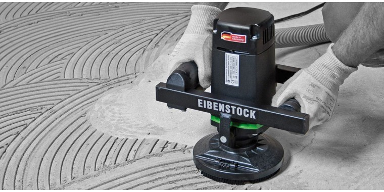 Eibenstock diamond grinder for removing floor adhesives and materials
